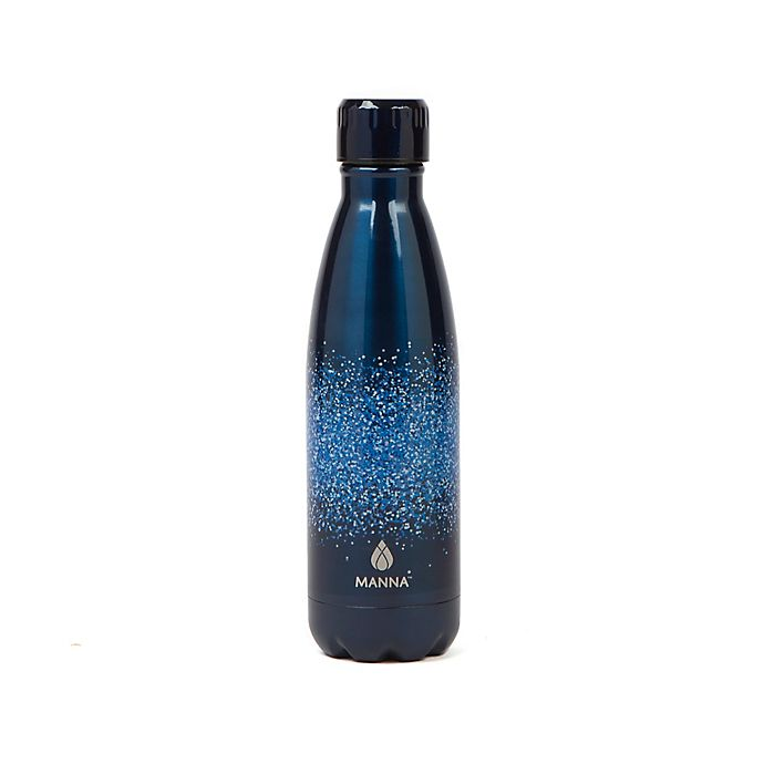Alternate image 1 for Manna™ Vogue® 17 oz. Double Wall Stainless Steel Bottle in Blue Glitter