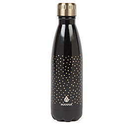 Manna™ Vogue® 17 oz. Double Wall Stainless Steel Bottle in Gold Dots
