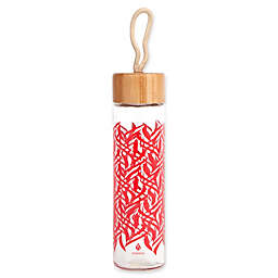 Manna™ Wai® Bamboo Loop 20 oz. Hook Lid Glass Water Bottle in Tribal Flames