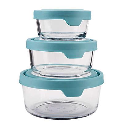 Anchor Hocking True Seal 6-Piece Food Storage Set in Mineral Blue
