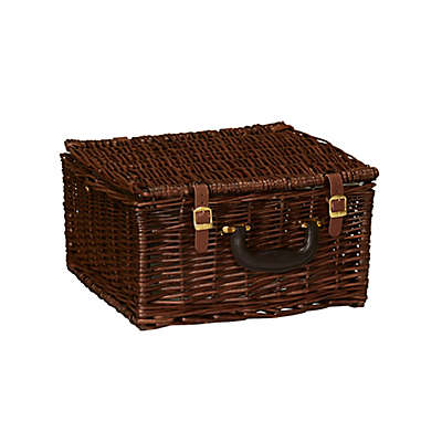Household Essentials® Willow Wicker Picnic Basket with Service for 2