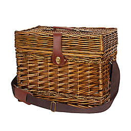 Household Essentials® Portland Wicker Picnic Basket with Strap