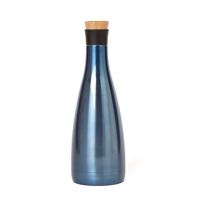 Alternate image 1 for Manna™  50 oz. Stainless Steel Double Wall Carafe in Shark Blue