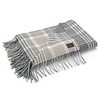 UGG® Charger Plaid Wool Throw Blanket in Grey
