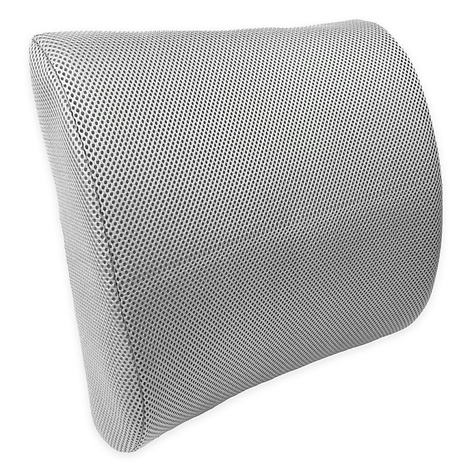 Alternate image 1 for World's Best Memory Foam Lumbar Support Cushion in Charcoal