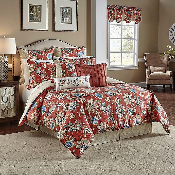 Waverly 174 Brighton Blossom Reversible Comforter Set Bed