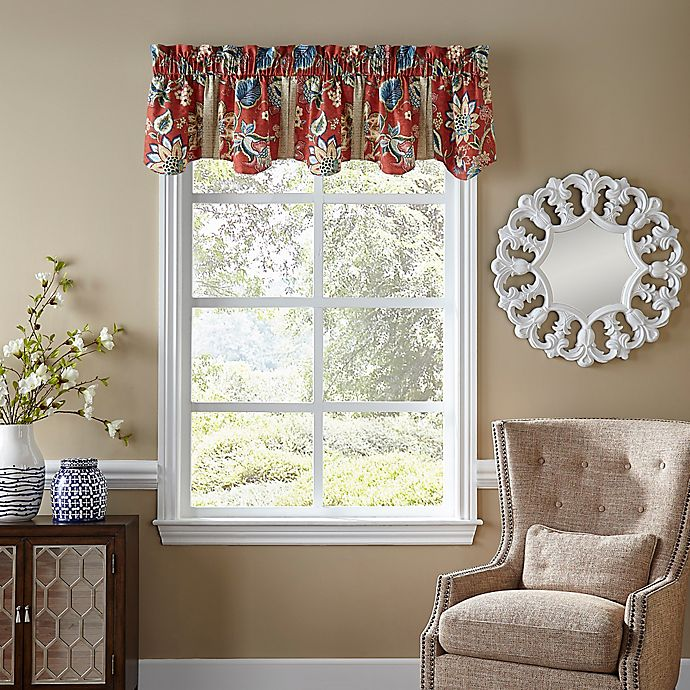Alternate image 1 for Waverly® Brighton Blossom Window Valance in Red