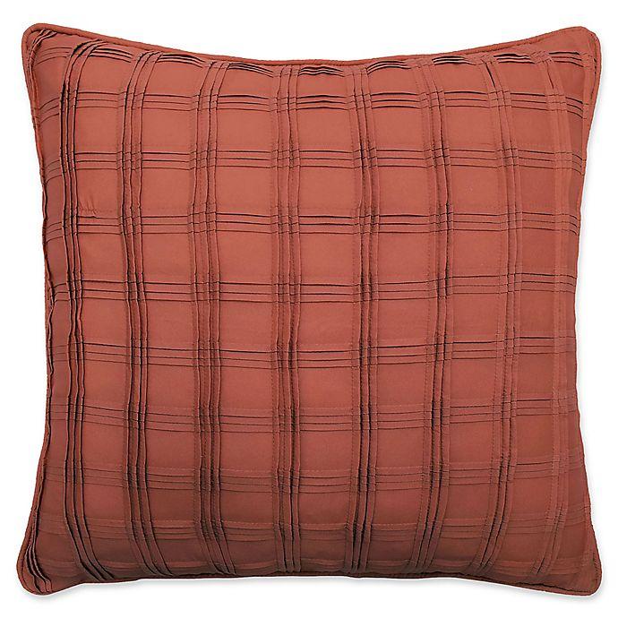 Alternate image 1 for Waverly® Brighton Blossom Pintuck Throw Pillow in Orange