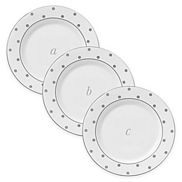 kate spade new york Larabee Road™ Platinum Monogram Tidbit Plates
