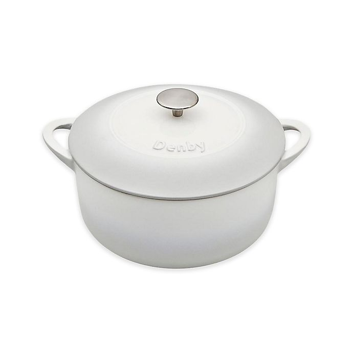 Alternate image 1 for Denby Natural Canvas 5.2 qt. Round Covered Casserole