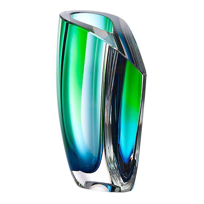 Alternate image 1 for Kosta Boda Medium Mirage Vase in Blue/Green