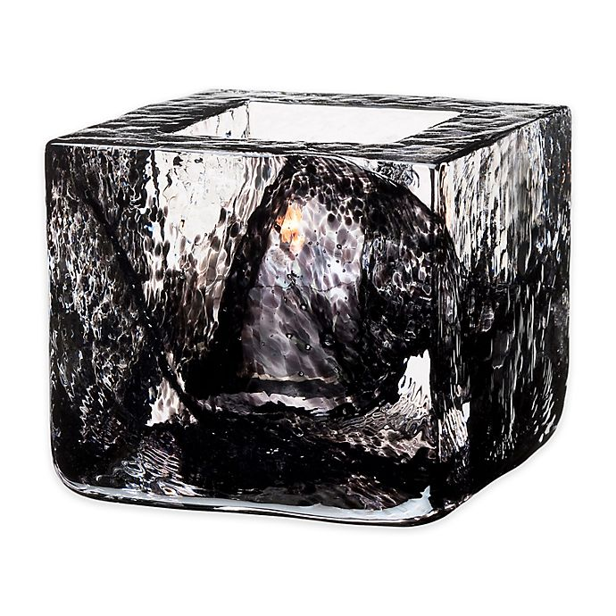Alternate image 1 for Kosta Boda Brick Votive Candle Holder in Black