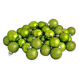 Northlight 60-Pack 2-1/2-Inch Christmas Ball Ornaments in Green