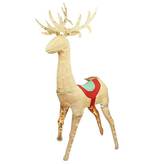 Alternate image 1 for Northlight 29-Inch Pre-Lit Burlap Doe Christmas Yard Decoration