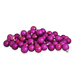 Northlight 60-Pack Christmas Ball Ornaments in Magenta
