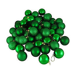 Northlight 60-Pack Christmas Ball Ornaments in Green