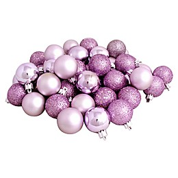 Northlight 24-Pack Christmas Ball Ornaments in Lavender