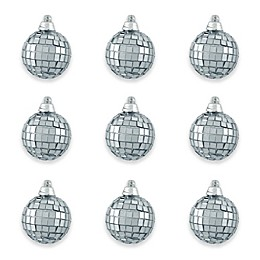 Northlight Silver Disco Ball Glass Ornaments (Set of 9)