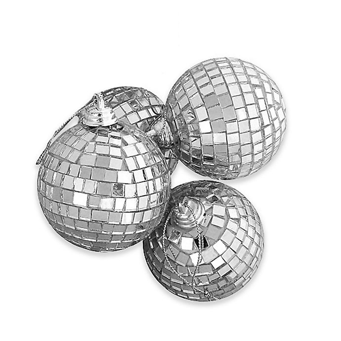 Alternate image 1 for Northlight 4-Pack Glass Christmas Ball Ornaments in Silver