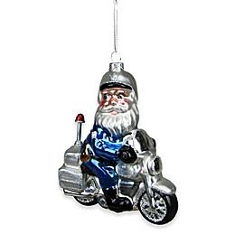 Northlight 5-Inch Santa Policeman on Motorcycle Ornament