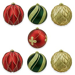Northlight 7-Piece 6-Inch Shatterproof Christmas Ball Ornament Set