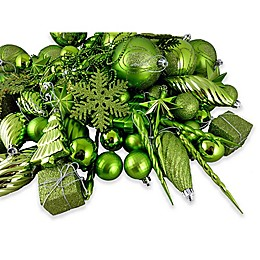 Vickerman 125-Piece Christmas Tree Ornament Set in Lime Green