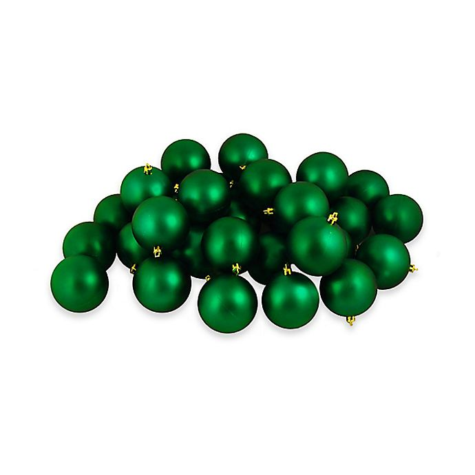 Christmas Ball Ornaments.Northlight 12 Pack Christmas Ball Ornaments In Matte Green