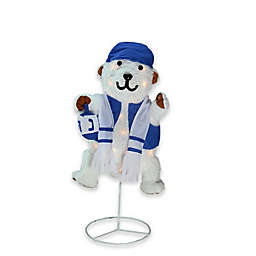 Hanukkah Lighted Bear with Dreidel Yard Decoration