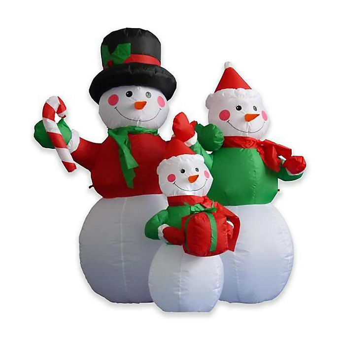 Alternate image 1 for LB International Inflatables 48-Inch Snowman Family Christmas Yard Art Decoration