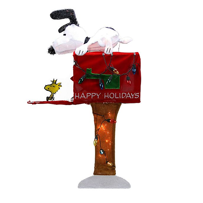 Alternate image 1 for Sienna 36-Inch Peanuts Snoopy with Mailbox Christmas Outdoor Yard Art Decoration