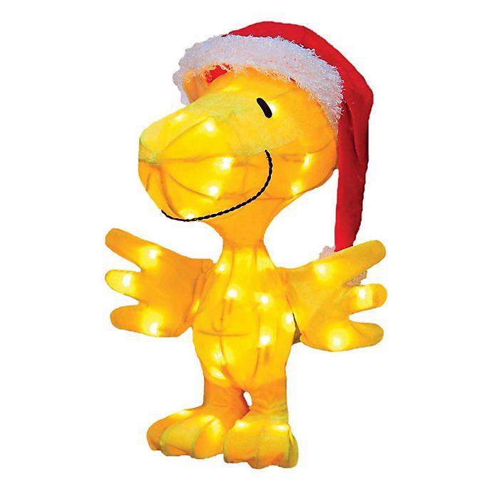 Alternate image 1 for Peanuts® Tinsel Santa Clause Woodstock Christmas Yard Decoration