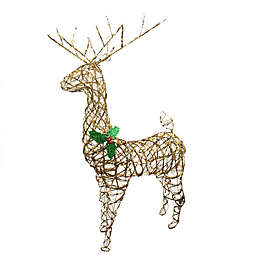 57-Inch Reindeer Christmas Yard Art in Brown