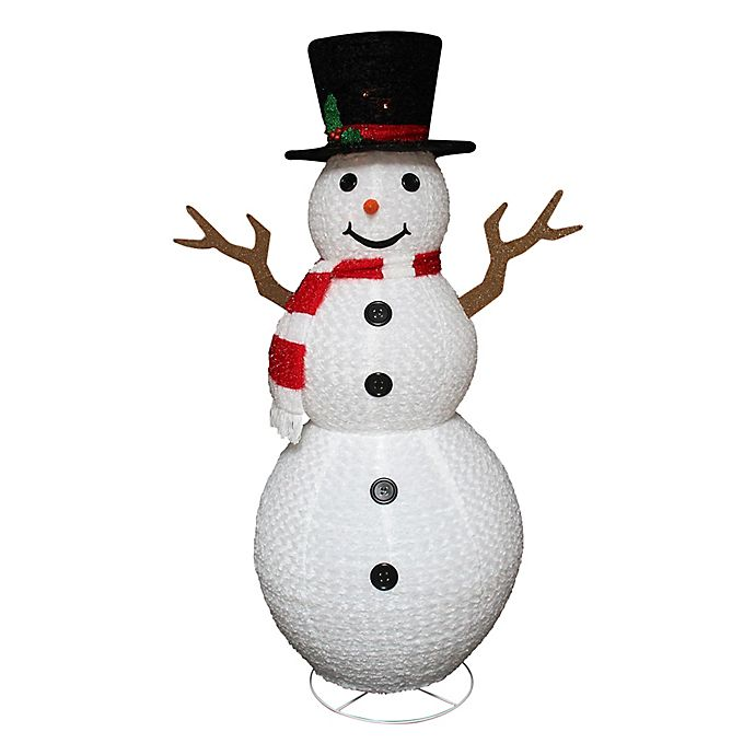 Alternate image 1 for Northlight 72-Inch Pre-Lit Snowman Lawn Decoration