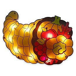 Northlight 20-Inch Cornucopia Thanksgiving Window Silhouette