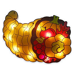 Northlight 20-Inch Cornucopia Thanksgiving Window Silhouette