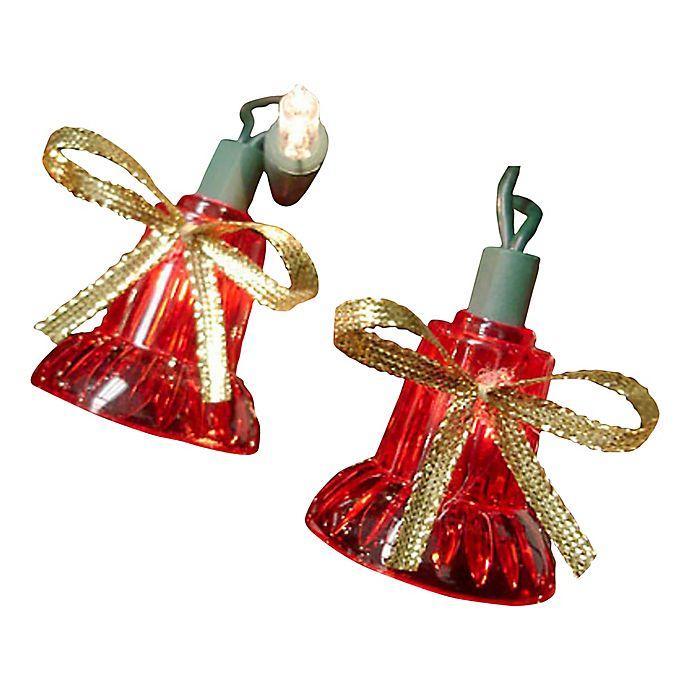 Musical Christmas Lights.Northlight 40 Light Red Bell Multi Function Musical