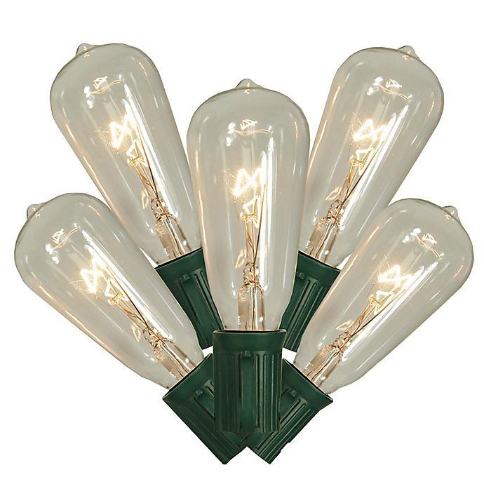 Alternate image 1 for Sienna 10-Feet 10-Light Edison-Style String Lights in Clear