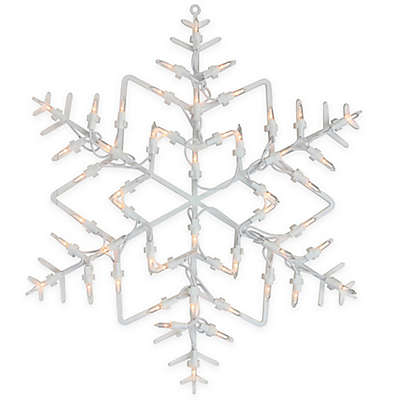Northlight 18-Inch Lighted Window Snowflake Silhouette