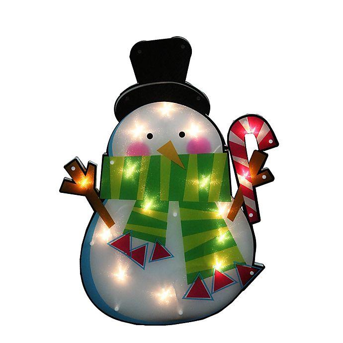 Northlight 15 Lighted Snowman Window Silhouette Christmas