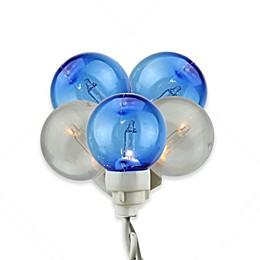 Sienna® 100-Light Globe Icicle Christmas Light Set in Blue/White
