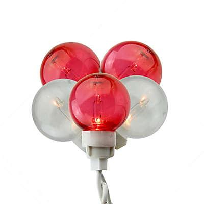 Sienna G30 Icicle Globe 10.25-Feet 100-Light String Light in Red/White