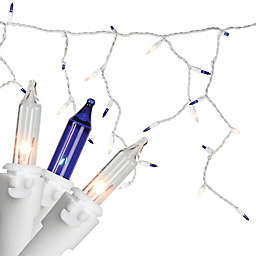 Northlight 7-Foot 100-Light Mini Icicle Christmas Lights in Blue/Clear
