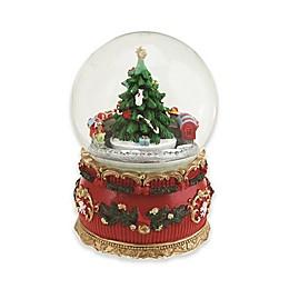Northlight 5.5-Inch Christmas Tree and Train Musical Snow Globe