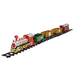 Northlight 16-Piece Battery-Operated Christmas Express Train Set