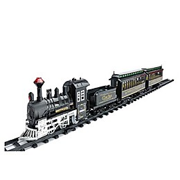 Northlight 16-Piece Battery-Operated Classic Train Set in Black