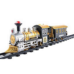 Northlight 8-Piece Battery-Operated Fast Forward Train Set in Black