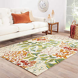 Jaipur Colours Veranda Indoor/Outdoor Rug in Leaf Green