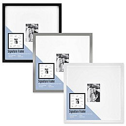 Gallery Signature Matted Brushed Metal  5-Inch x 7-Inch Frame