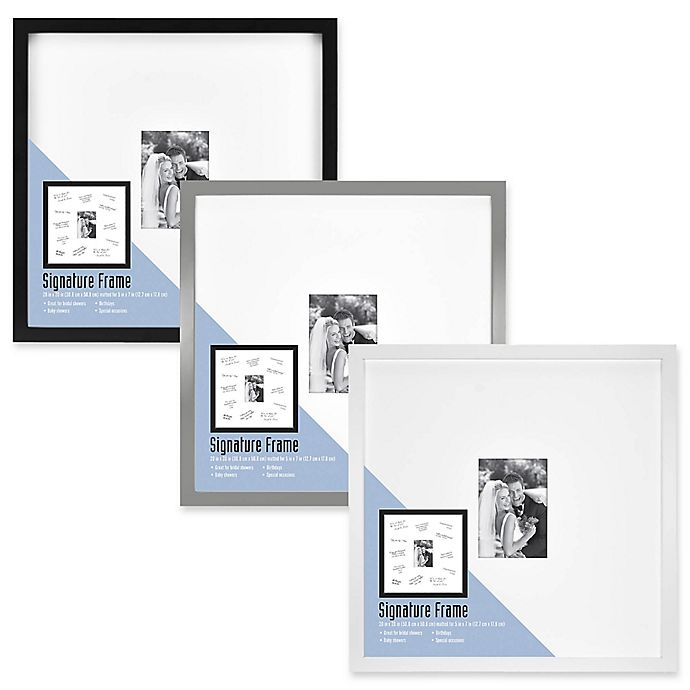 Alternate image 1 for Gallery Signature Matted Brushed Metal  5-Inch x 7-Inch Frame