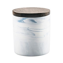 Artisanal Kitchen Supply® Coupe Marbleized 20 oz. Canister with Wood Lid